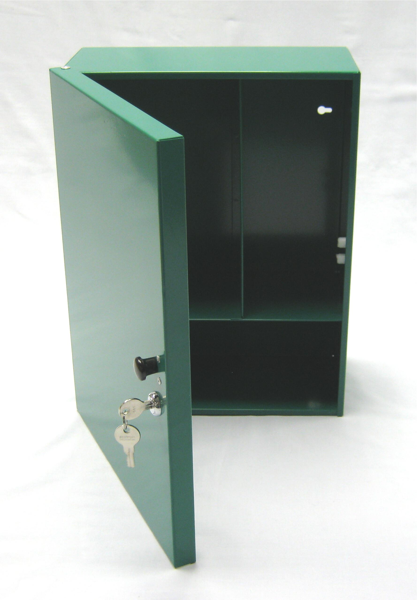 Steel Wall Cabinet With Lock Green